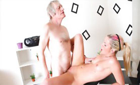 Horny Old Man Gets a Taste Of Fresh Young Pussy After Many Years