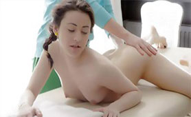 Naughty Masseur Provides Some Extra Service for Lucky Teen Girl