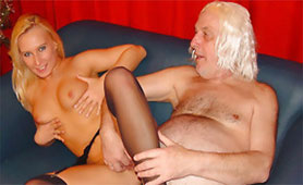 Ugly Old Man Feels the Taste of Young Pussy