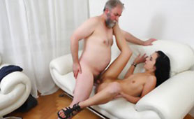 Dirty Old Cock Feels Young Pussy After Many Years