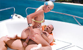 Escort Girl Fucking with Rich Gentleman on a Yacht